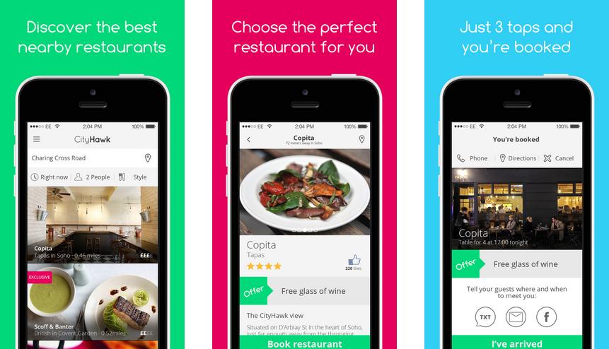 London restaurant deals app