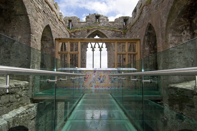 The official opening of phase one of the restorations to Oystermouth Castle in Swansea over the weekend.