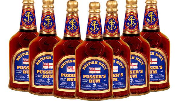 Pussers Rum Bottles