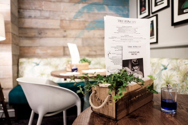 The Finery name and menu