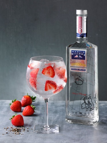 Martin Millers Gin bottle with GT - Strawberry Black Pepper