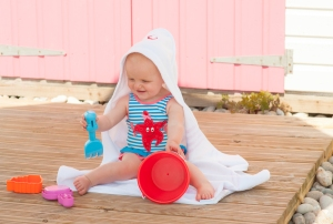 Hippychick Baby Towel Red